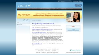 Vanguard Vista Survey Software - Manage your Account