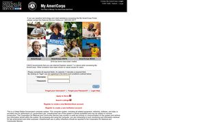 My AmeriCorps - Login
