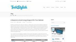 6 Reasons to Avoid Using Vistaprint for Your Website – TechStylish