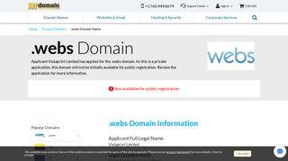 .webs Domain Registration - .webs Domains - Vistaprint Limited ...