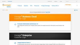 Account login | Vonage Business