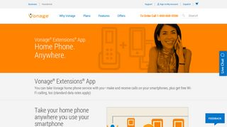 Wi-Fi Calling - Get Free Calls over Wi-Fi with Vonage Extensions app