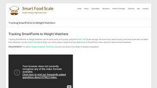 Tracking SmartPoints to Weight Watchers - Smart Food Scale