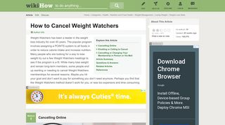 3 Ways to Cancel Weight Watchers - wikiHow