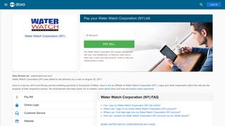 Water Watch Corporation (NY): Login, Bill Pay, Customer Service and ...