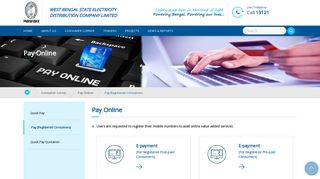 Pay (Registered Consumers) - Welcome to WBSEDCL