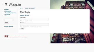 User login | Westgate