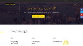 Welcome to My WU   | Australia | Western Union®