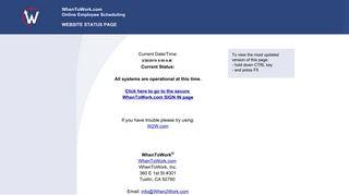 WhenToWork.com Website Status Page