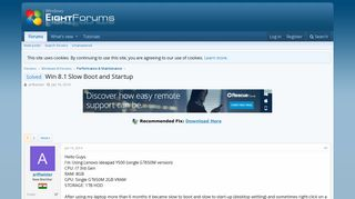 Solved - Win 8.1 Slow Boot and Startup   Windows 8 Help Forums