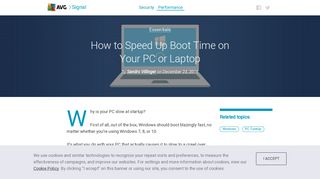 How to Speed Up Boot Time on Your Windows PC or Laptop   AVG
