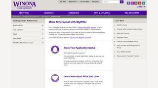 MyWSU Portal - Winona State University