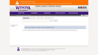 Search Results : E Services Login - MyWSU - Winona State University
