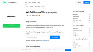 Online Affiliate World | WinTrillions - $30 for each new player!