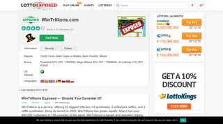 Is WinTrillions a Scam or Legit? Read 5 Reviews! - Lotto Exposed