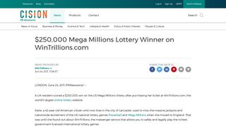 $250,000 Mega Millions Lottery Winner on WinTrillions.com