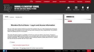 Wonders ELA / Overview - Delaware Valley School District