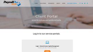 Client Login Portal   Workforce Management   Payroll ... - Payroll Plus