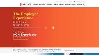 Kronos: Workforce Management and HCM Cloud Solutions