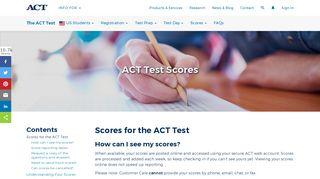 Scores - ACT