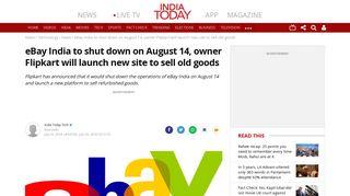 eBay India to shut down on August 14, owner Flipkart will launch new ...