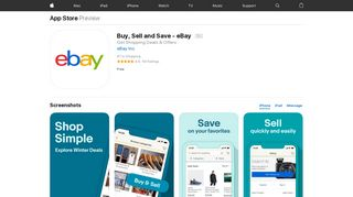 Buy, Sell and Save - eBay on the App Store - iTunes - Apple