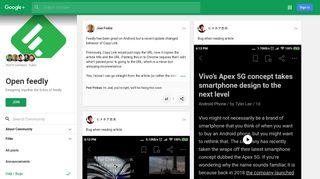 Open feedly - Google+