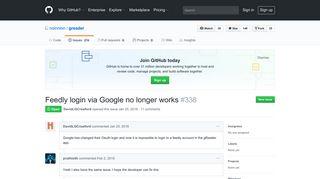 Feedly login via Google no longer works · Issue #338 · noinnion ...