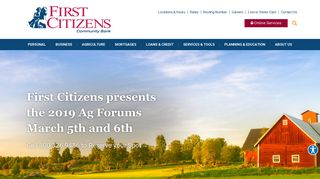 First Citizens Community Bank | Mansfield, PA – Sayre, PA – Lebanon ...