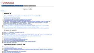 GovernmentJobs.com - Applicant FAQ's