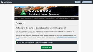 State of Colorado Jobs - Careers | DHR