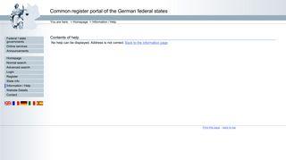 Help for login - Register portal