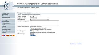 Advanced search - Register portal