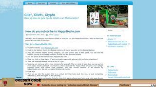 How do you subscribe to HappyStudio.com - Glief, Gliefs, Glyphs