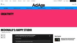 McDonald's: Happy Studio   AdAge