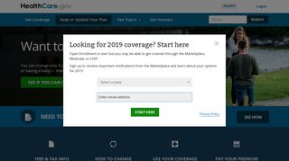 Change or update your Marketplace Health Coverage   HealthCare.gov