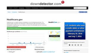 Healthcare.gov down? Current outages and problems   Downdetector