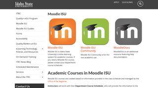 Moodle ISU | Idaho State University