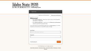Sign In - Idaho State University Scholarships