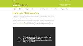 Musgrave Shopping App | Musgrave Marketplace