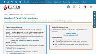Grades / Gradebook Home Access - Plano ISD