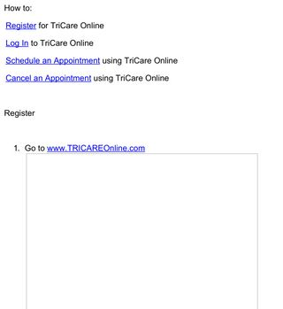 TriCare Online Instructions