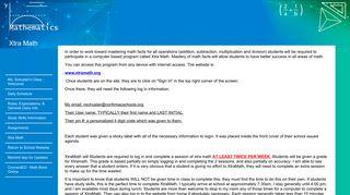 North Mac Schools - Xtra Math