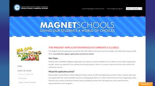Magnet Applications – closed - YourChoiceMiami.org