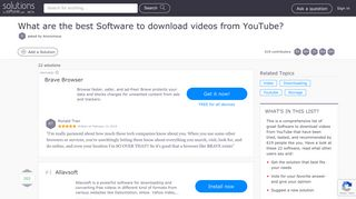 Best Software to download videos from YouTube - Softonic
