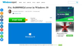 Fix: 0x8009002d error in Windows 10 - Windows Report