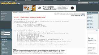 10.5.50.1 IP Address Location | SG IP network tools - SpeedGuide