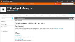 YFi Hotspot Manager / Wiki / YfiTechMikrotikLogin - SourceForge