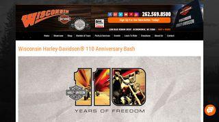 110th Anniversary Bash | Wisconsin Harley-Davidson® | Oconomowoc