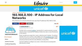192.168.0.100 is a Private IP Address Used on Local Networks - Lifewire
